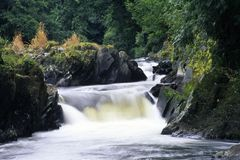 River Teifi, Llandysul. Wales, Ceredigion, the picturesque River Teifi at Llandysul Stock Images