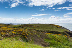 Wales Coast Path towards Caerfai from St Non`s Pembrokeshire UK Stock Images