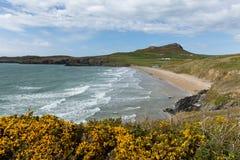 Wales coast Whitesands Bay neasr St Davids  UK Royalty Free Stock Photos