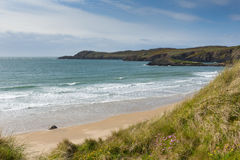 Wales coastline Whitesands Bay Pembrokeshire Stock Photography