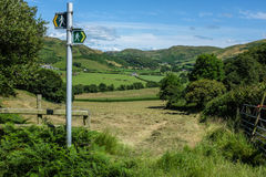 Wales Countryside Walking Landscape Stock Photography