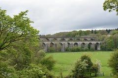 Wales, das Ceiriog-Tal an Chirk Ein UNESCO-Standort Der Aquädukt errichtet von Thomas Telford für den Llangollen-Kanal stockfoto
