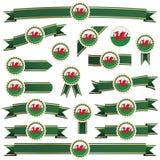 Wales-Farbbänder Stockbilder