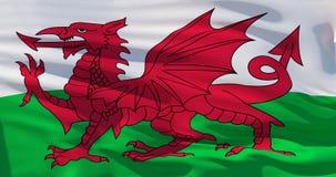 Wales flag. 3d illustration vector illustration