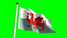 Wales flag stock footage