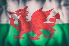 Wales flag waving Royalty Free Stock Photos