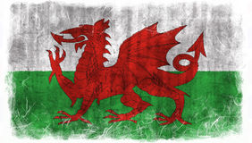 Wales grunge flag Stock Photography