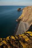 Wales-Küstenpfad, Trefor. Lizenzfreie Stockfotos