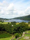 Wales landscape. With the village of Llanberis Stock Images