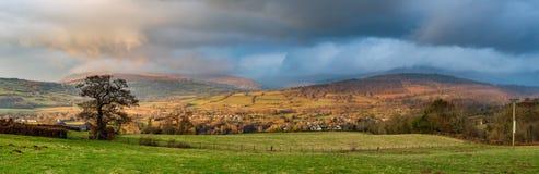 Wales-Panoramaszene Stockfoto