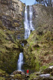 Wales - Pistyll Rhaeadr Waterfall - United Kingdom Stock Images