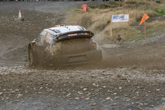 Wales Rally GB 2015 SS Sweet Lamb. Citroen DS3 WRC Driver : Kris Meeke Co-Driver : Paul Nagle royalty free stock photos