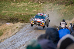 Wales Rally GB 2015 SS Sweet Lamb. Ford Fiesta RS WRC Stock Images