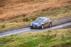 Wales Rally GB 2015 SS Sweet Lamb. Volkswagen Polo R WRC Stock Image