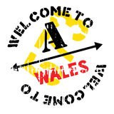 Wales stamp rubber grunge Stock Photography