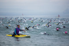 Wales Swim 2017 at Tenby, West Wales, UK. Stock Photo