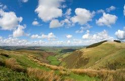Wales-szenische Hügel, Ansicht vom Mynydd Epynt. Stockfotos