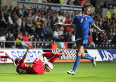 Wales U21 v Italië U21 royalty-vrije stock afbeelding