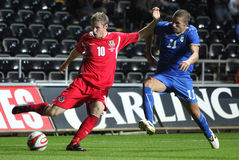 Wales U21 v Italy U21 Fotografia de Stock Royalty Free