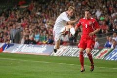 Wales V Russland 2010 Weltcup-Kennzeichner Lizenzfreies Stockbild