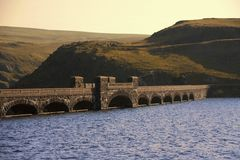 Wales valley of the river claerwen the cambrian mountains Stock Images