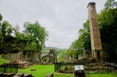 Walesisk bygd av den tenn- minen arkivbild