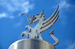 Walesisk drake för metall Fotografering för Bildbyråer