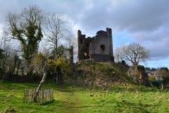 Walesisk förstörd medeltida slott, Wales, UK Royaltyfria Foton