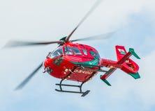 Walesisk flygambulanshelikopter Arkivbild