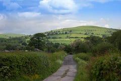 Walesisk landsgränd Fotografering för Bildbyråer