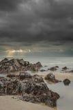 Walesisk strandplats. arkivfoton