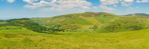 Walesiskt landskap nära Aberdovey Arkivfoto
