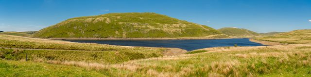 Walesiskt landskap nära Aberystwyth Royaltyfri Foto