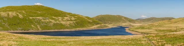Walesiskt landskap nära Aberystwyth Arkivbild