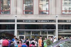 Walgreens apteka w Nowy Jork mieście zdjęcie stock