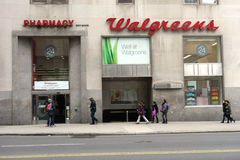 Walgreens Drugstore. A Walgreens drugstore on 23rd Street, in Manhattan. The Walgreen Company is the largest drug retailing chain in the United States stock image