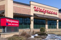Walgreens lageryttersida och tecken Royaltyfri Fotografi