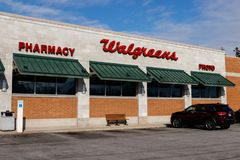 Walgreens Retail Location. Walgreens is an American Pharmaceutical Company IV royalty free stock photos
