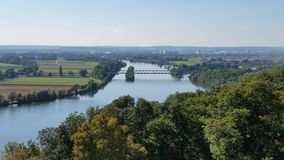 Walhalla Alemanha de Danúbio Imagem de Stock