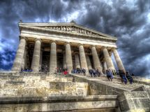 The Walhalla hall of fame near Regensburg, Germany royalty free stock images