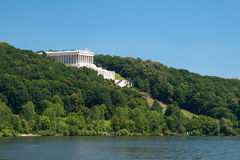 Walhalla near the city Regensburg Royalty Free Stock Photo