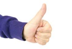 Wali w górę ręka znaka Obraz Royalty Free