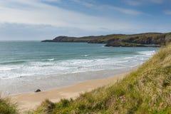 Walia linii brzegowej Whitesands zatoka Pembrokeshire Fotografia Stock