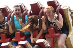 Walibi The Nederlands - in a ride Stock Images