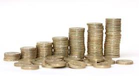 Walijskie funtowe monety zdjęcia royalty free