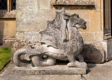 Waliser Dragon Sculpture, Katen-Schloss, Herefordshire Lizenzfreie Stockfotos