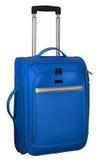 Walizka dla podróży Błękitny kolor z srebnymi akcentami Zdjęcie Royalty Free