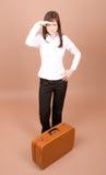 walizka podróżnego young obrazy stock