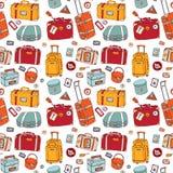 walizki Bezszwowy tło Zdjęcie Stock