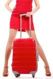 walizki kobieta Zdjęcia Stock